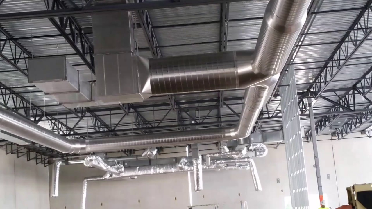 Stainless steel aluminum spiral ductwork hvac for indoor