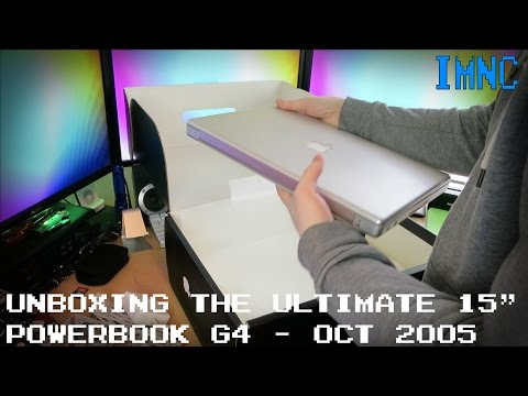 "Unboxing PowerBook G4 15"" 1.67Ghz High Resolution (October 2005) 