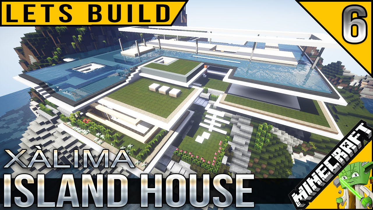 Minecraft island house lets build e06 youtube for Lets build modern house 7
