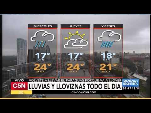 C5N - El Tiempo: Pronóstico En Buenos Aires 05/04/2016