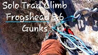 Solo Trad Climbing Frogshead (5.6) at the Gunks-With Setup