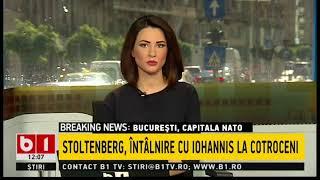 STIRI B1TV-BUCURESTI, CAPITALA NATO:STOLTENBERG LAUDA ROMANIA, DRAGNEA SUPARAT