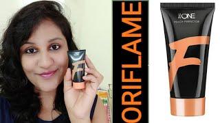 Oriflame Peach Perfector Foundation Review | Best Tinted moisturizer #oriflamefoundation