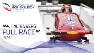 Altenberg | BMW IBSF World Championships 2021 - Women's Bobsleigh Heat 1 | IBSF Official