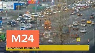 Смотреть видео Один человек погиб в ДТП на Кутузовском проспекте - Москва 24 онлайн