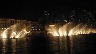 Дубаи. Танцующие фонтаны.  andrea bocelli & celine dion Декабрь 2012(, 2013-01-05T09:47:26.000Z)