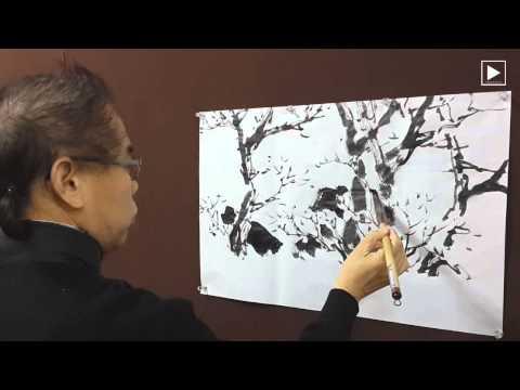 IKP Ep.11 산수유 Cornus Officinalis - Imjae`s Korean Painting 임재 김성호의 한국화 그리기
