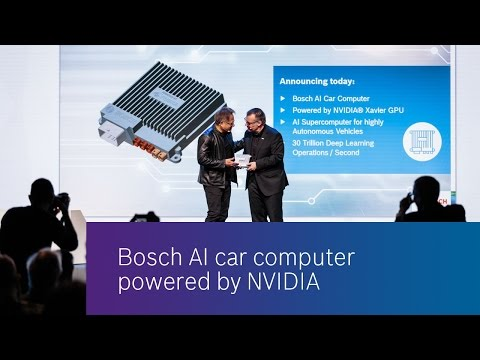 Bosch AI car computer powered by NVIDIA
