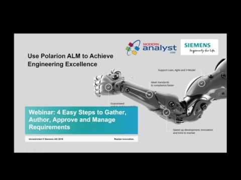 4 Easy Steps to Gather, Author, Approve and Manage Requirements Webinar Dec 1 2016