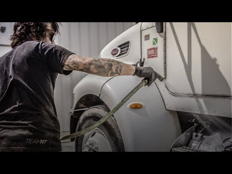 Learn how to clean your semi truck aluminum fuel tank fast- muriatic acid restoration!