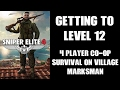 Sniper Elite 4: Multiplayer Survival Mode, Getting To Level 12! (Village, Marksman, PS4)