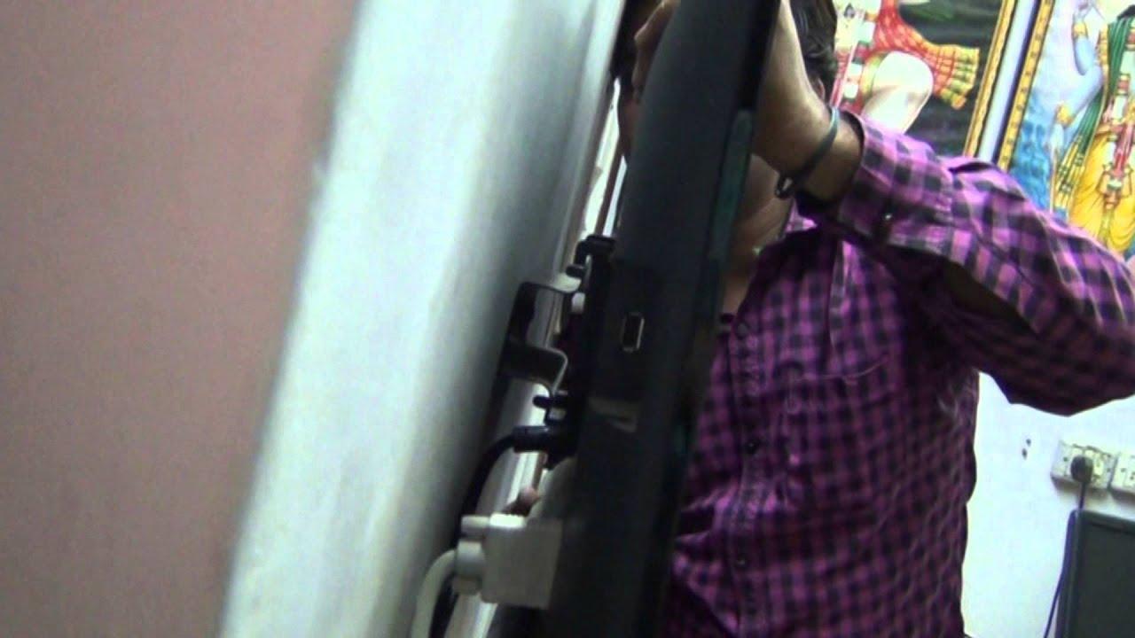 Wall Mounting Of Sony Bravia Led Tv Hindi 1080p Hd