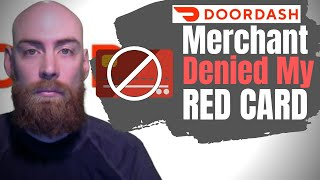 Door Dasher Driver Red Card