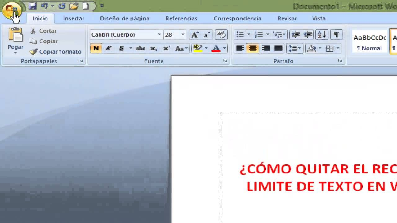 Como quitar limite de texto en word youtube - Como quitar el estucado de la pared ...