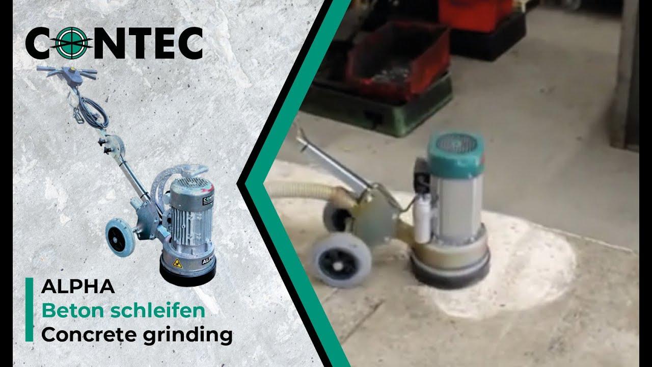 contec alpha beton schleifen concrete grinding youtube. Black Bedroom Furniture Sets. Home Design Ideas
