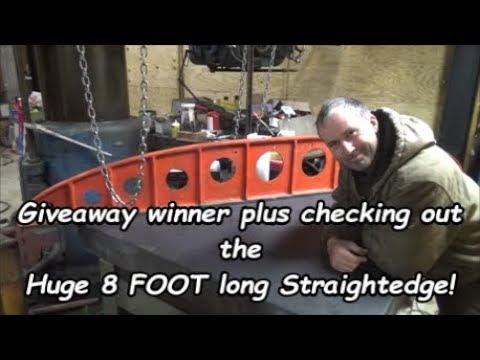 Huge 8 foot Precision Camelback Straight Edge