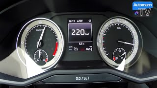 2016 Skoda Superb 2.0 TDI (190hp) - 0-222 km/h acceleration (60FPS)