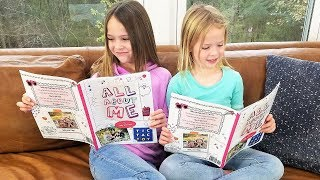"""Our """"All About Me"""" Book by Addy and Maya"""