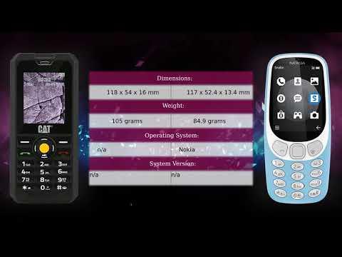 CAT B30 vs Nokia 3310 3G - Phone comparison