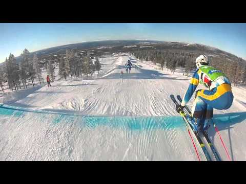 Audi Ski Cross World Cup Idre Fjall course preview #2