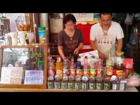 ไข่ลวก กาแฟโบราณร้านอาม่าตลาดสามชุก Original Coffee Grandma @ Samchuk Market