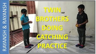 Twin Brothers doing Catching Practice | Clone | Double Role | Magic |