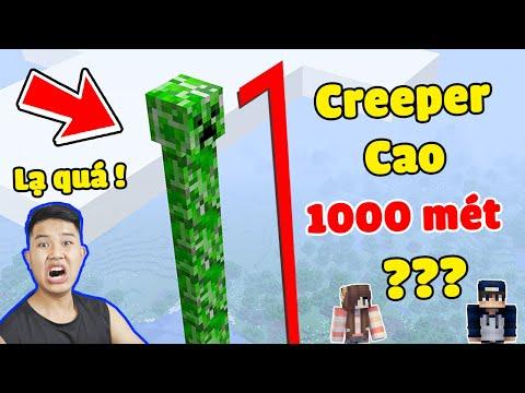 Minecraft, Nhưng bqThanh Tạo Ra CREEPER Cao 1000m Troll Ốc...