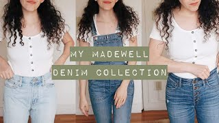 my madewell denim collection // style and sizing comparison