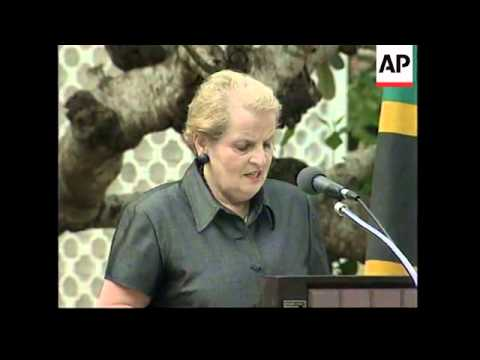 TANZANIA: US SECRETARY OF STATE MADELEINE ALBRIGHT VISIT