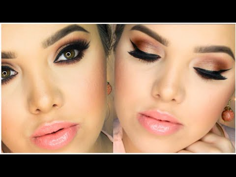 Bronze Eyes Amp Peach Lips Spring Makeup Tutorial Youtube