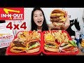 - IN-N-OUT BURGER 4X4 ANIMAL STYLE! Double-Double Protein Style, Animal Fries -  Mukbang w/ Asmr