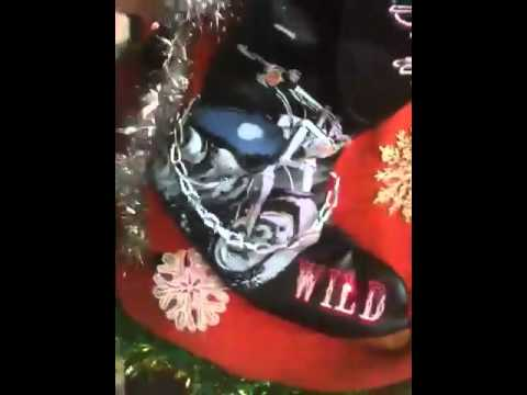 Biker musical lightup ugly Christmas sweater - YouTube