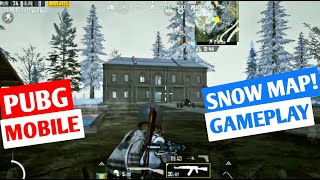 PUBG Mobile Snow Map Gameplay   New Snow Map Update Gameplay
