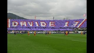 The players pay tribute to Davide Astori in the 13th minute