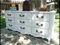 Do it yourself White French dresser makeover. Steps to achieve a gorgeous 9 drawer dresser.