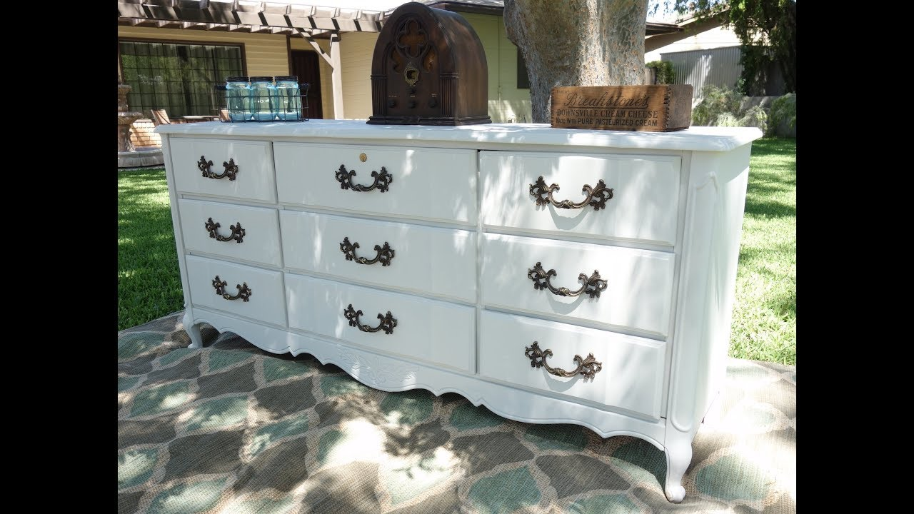 Do It Yourself White French Dresser Makeover Steps To Achieve A Gorgeous 9 Drawer