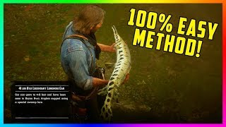 The EASIEST Way To Successfully Catch Legendary Fish 100% Of The Time In Red Dead Redemption 2!