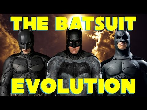 Batman Batsuit Movie Evolution 2000 - 2016