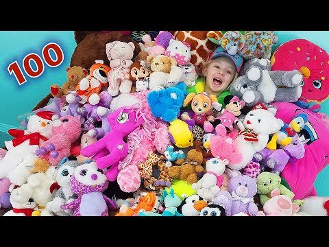 100 Layers of Stuffed Animals!!! Bears Shopkins Puppies Owls Penguins Ponies Unicorns & More!!!