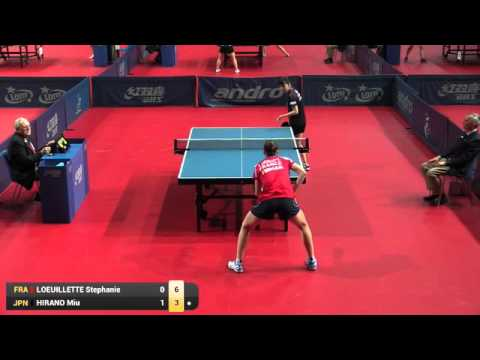 ITTF World Tour Polish Open 2016 R1 HIRANO Miu vs LOEUILLETTE Stephanie