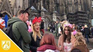 Karnevalsbeginn auf Sparflamme - Polizeiaufgebot in Köln