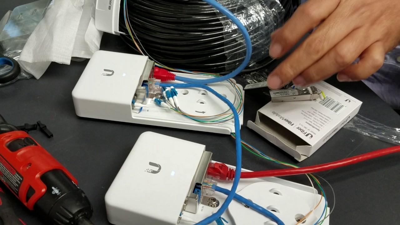 Ubiquiti FiberPOE , Fiber Modules and Fibercable FC-SM-300 instalation