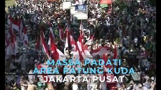 Gambar cover Suasana Area Patung Kuda Jakarta Pusat Jelang Putusan MK
