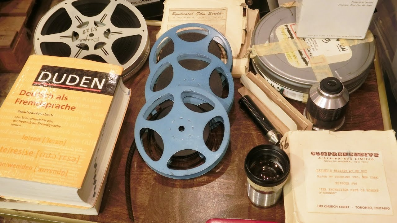 inbox 015: 16mm Film Reels, Projector Lenses, and a Duden