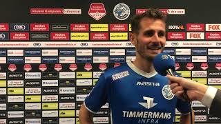 Paco van Moorsel na afloop van FC Den Bosch FC Dordrecht