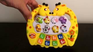 İspanyolca CY Karikatür Zürafa Hayvan Gürültü, sayı ve harf oyuncak