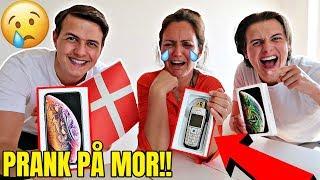 DOBBELT IPHONE X PRANK PÅ MOR!! *Hun græder*