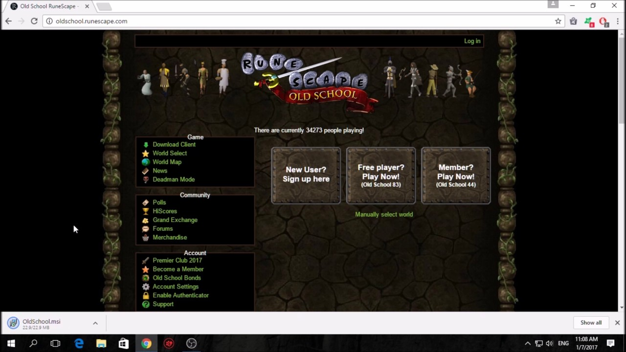 OSRS (OLD School Runescape) Installer fix for windows 10