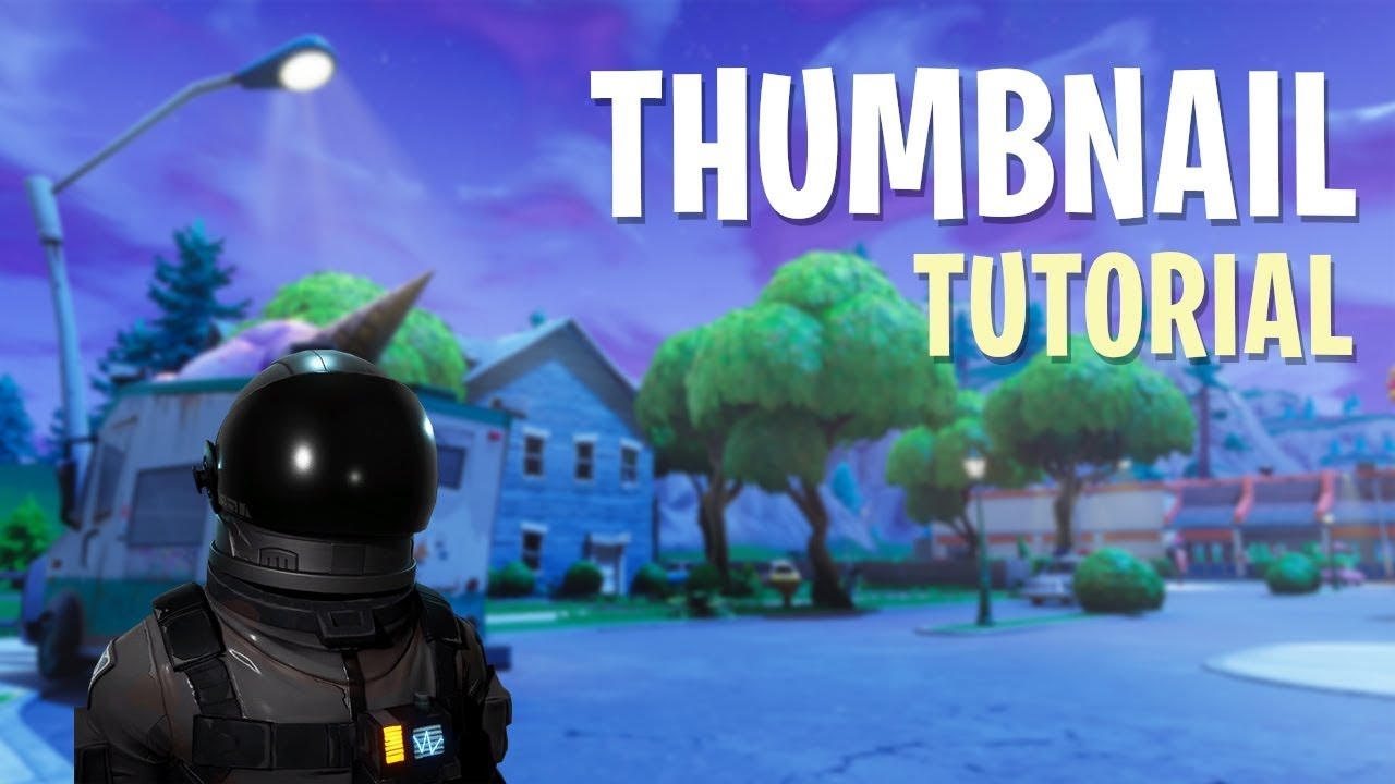 How To Create Fortnite Video Thumbnails With Template Youtube