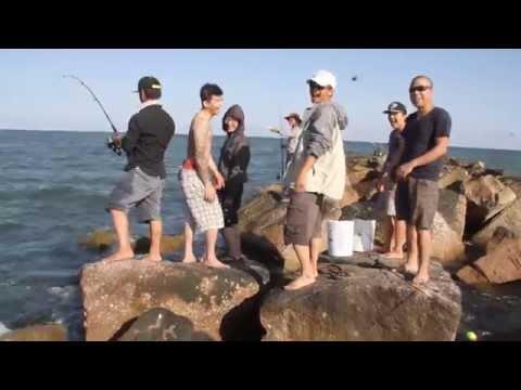 Video Cắm trại bãi biển Freeport 20-4-2015 Địa điểm câu cá Houston